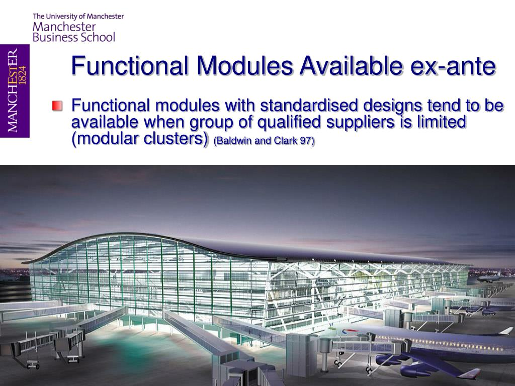Functional Modules Available ex-ante