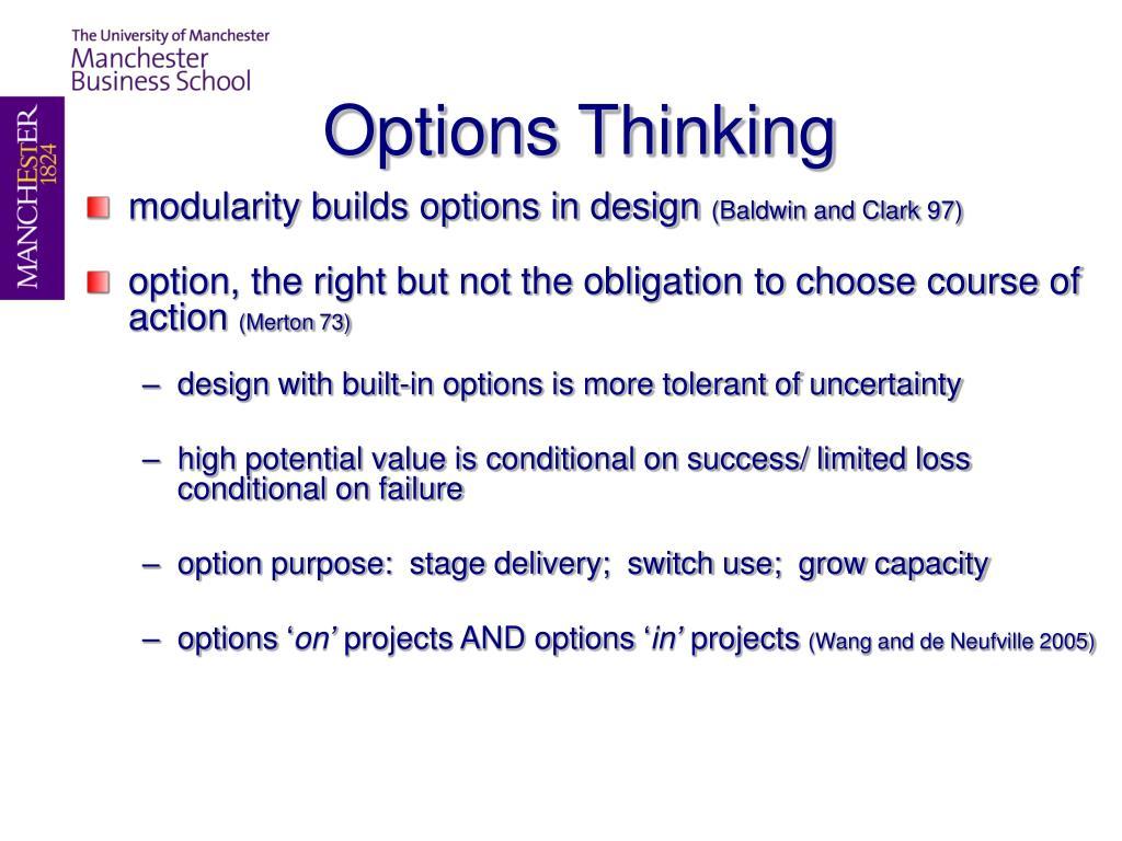 Options Thinking