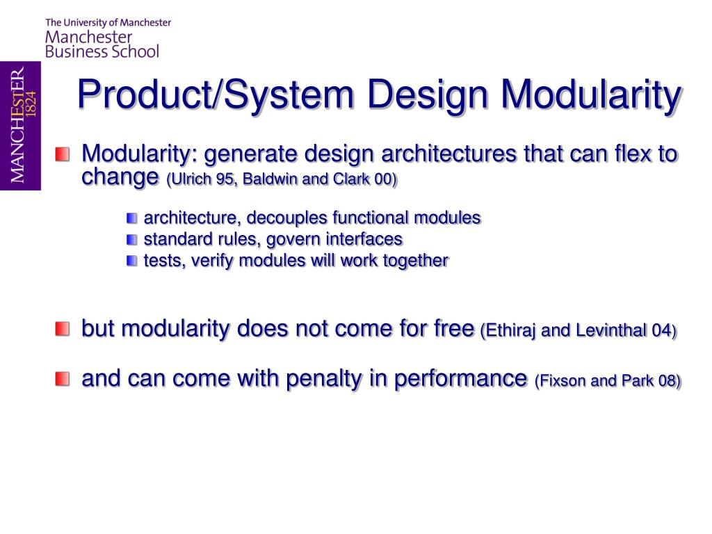 Product/System Design Modularity