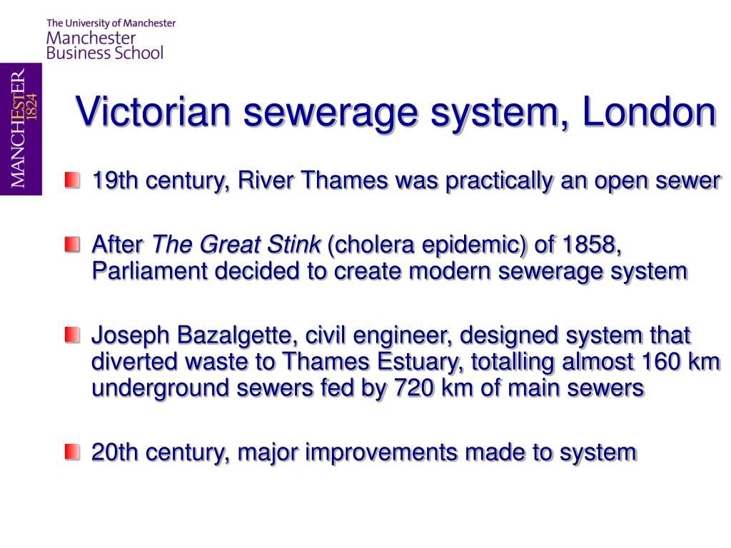 Victorian sewerage system, London