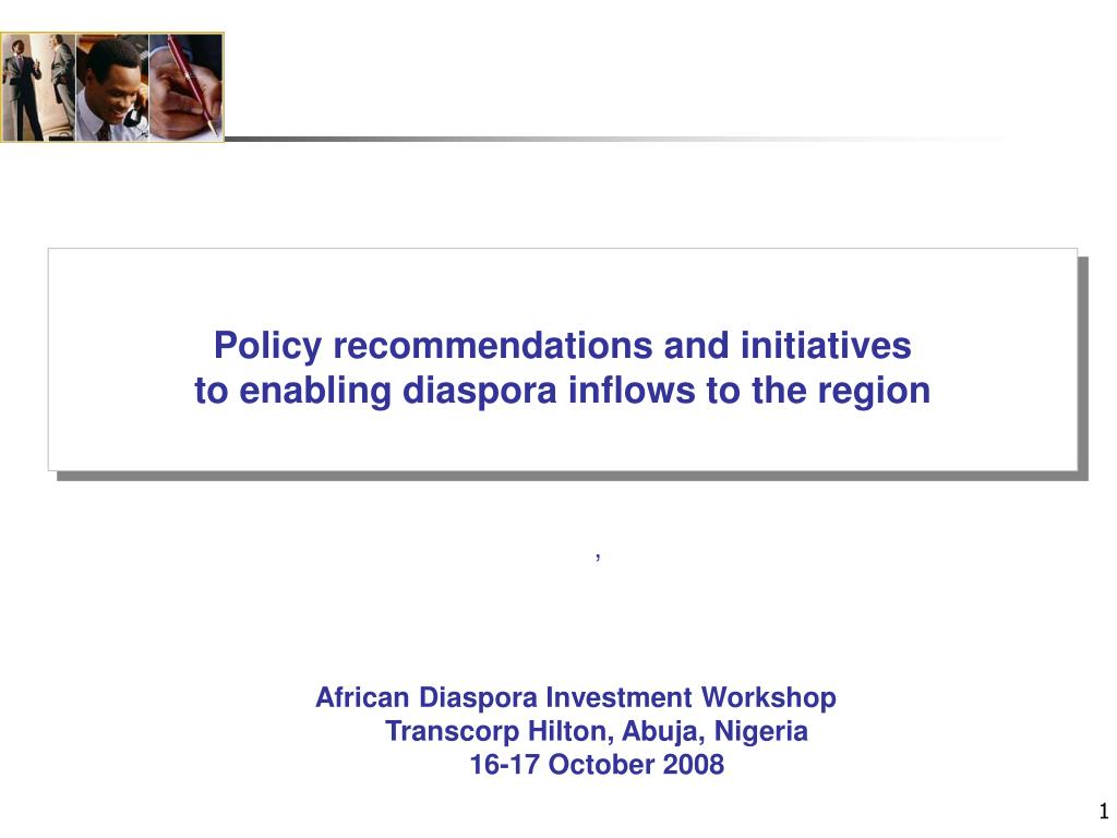 Policy recommendations and initiatives