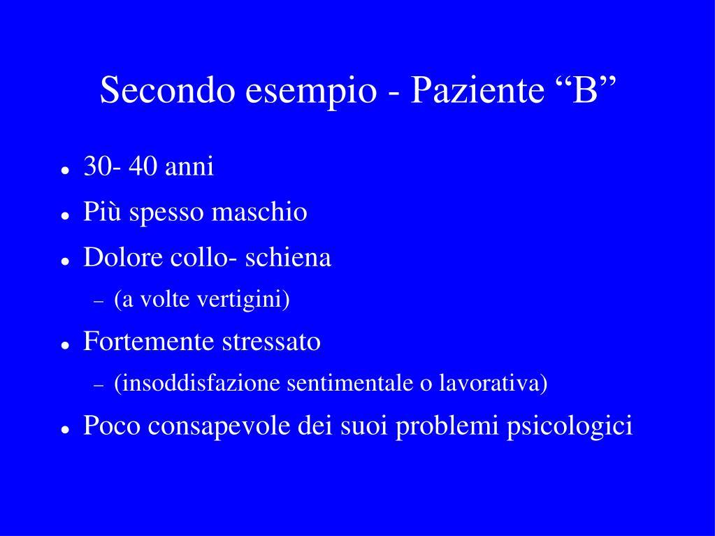"""Secondo esempio - Paziente """"B"""""""