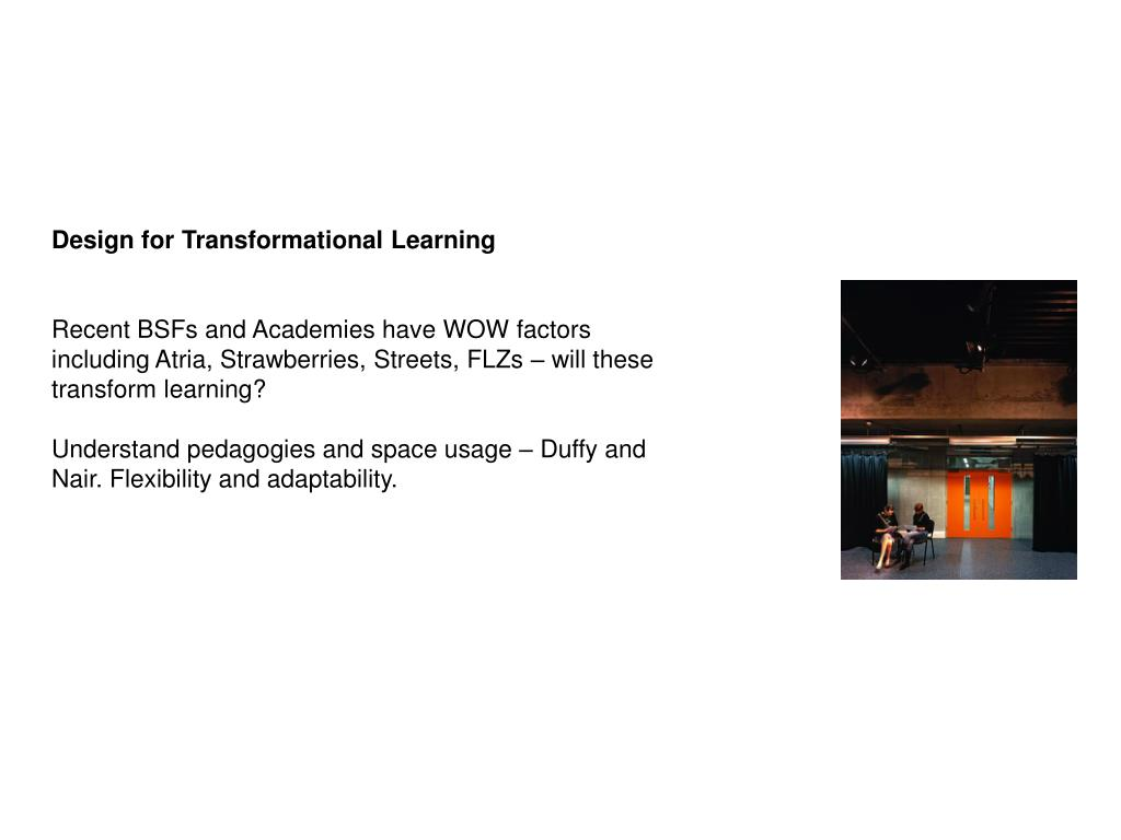 Design for Transformational Learning