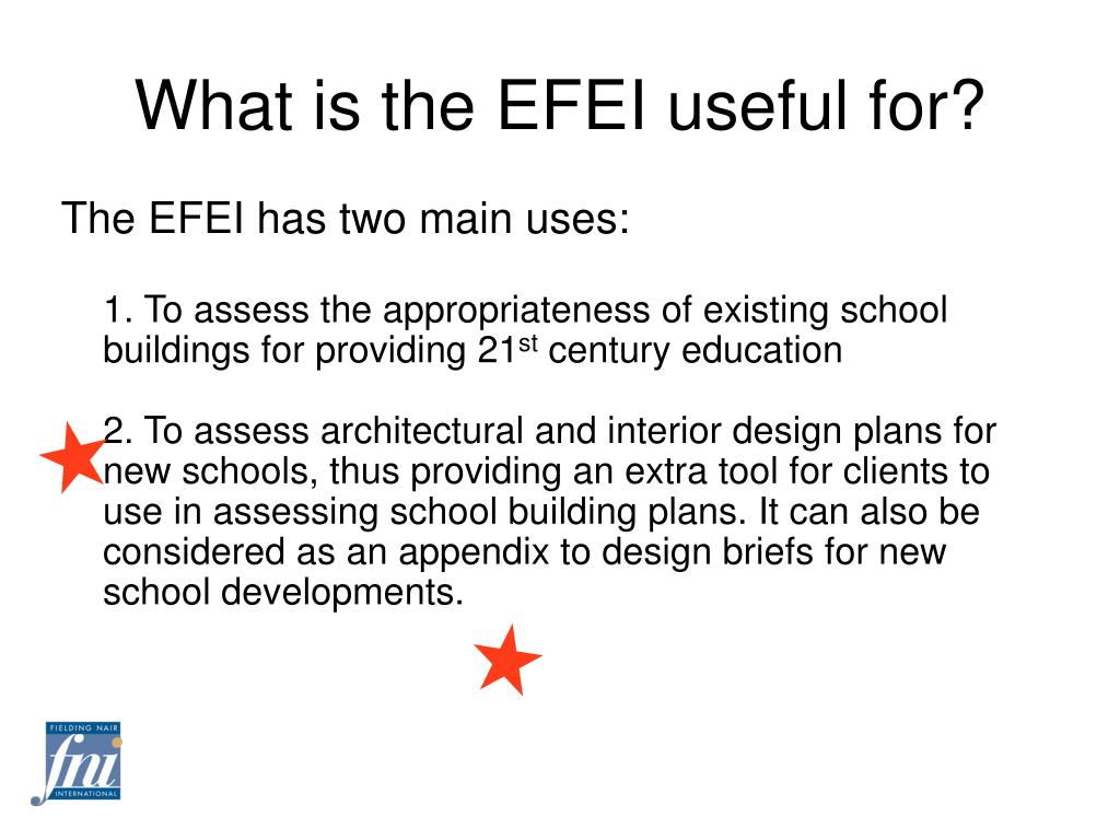 What is the EFEI useful for?