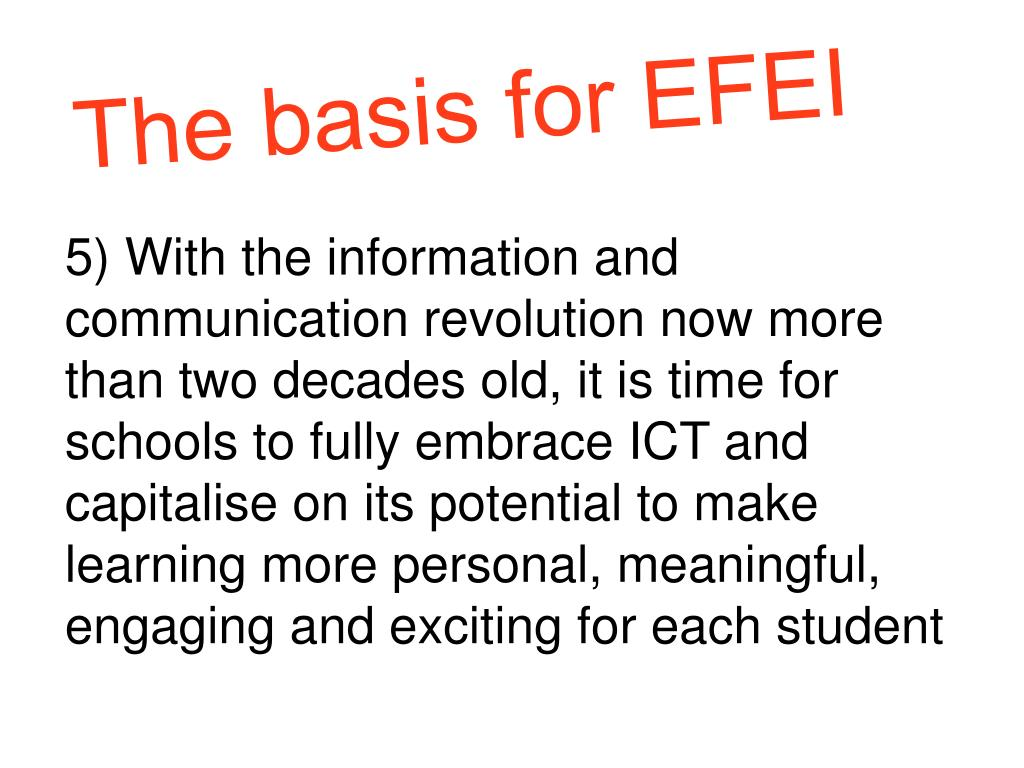 The basis for EFEI