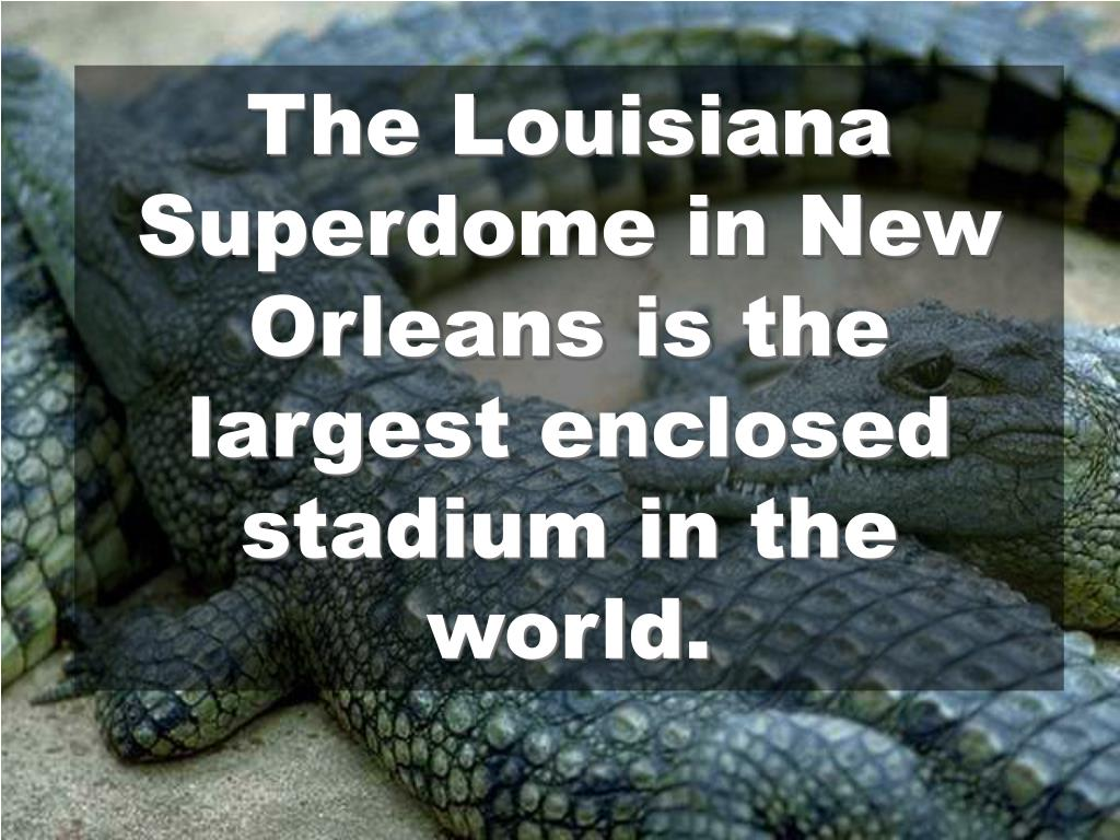 The Louisiana Superdome in New Orleans is the largest enclosed stadium in the world.