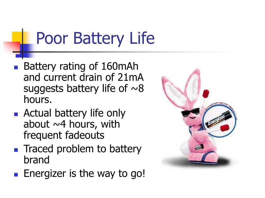 Poor Battery Life