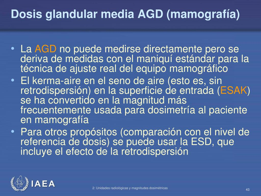 Dosis glandular media AGD (mamografía)