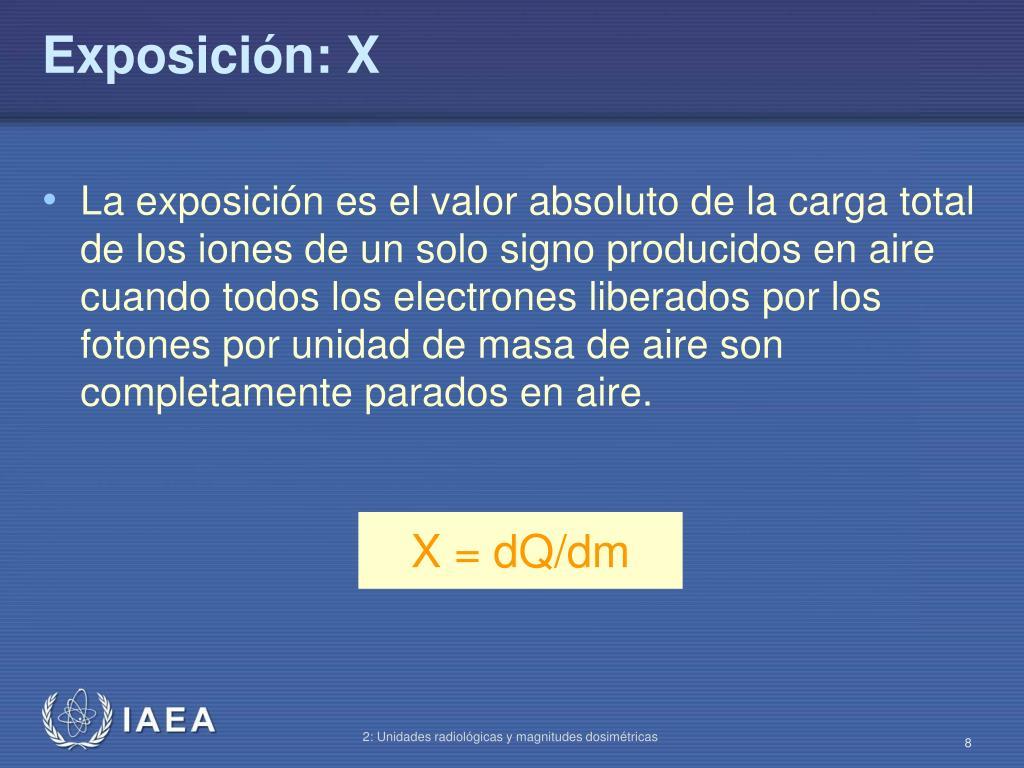 Exposición: X