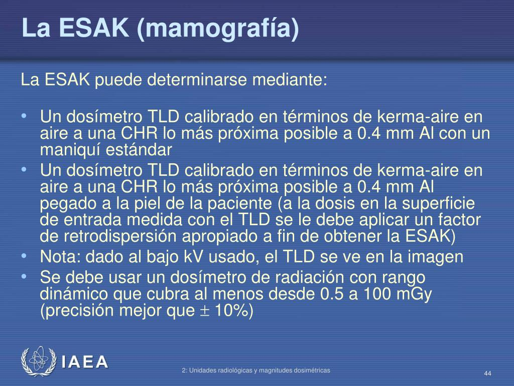 La ESAK (mamografía)