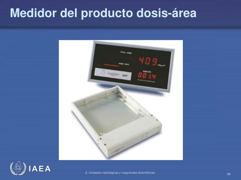 Medidor del producto dosis-área