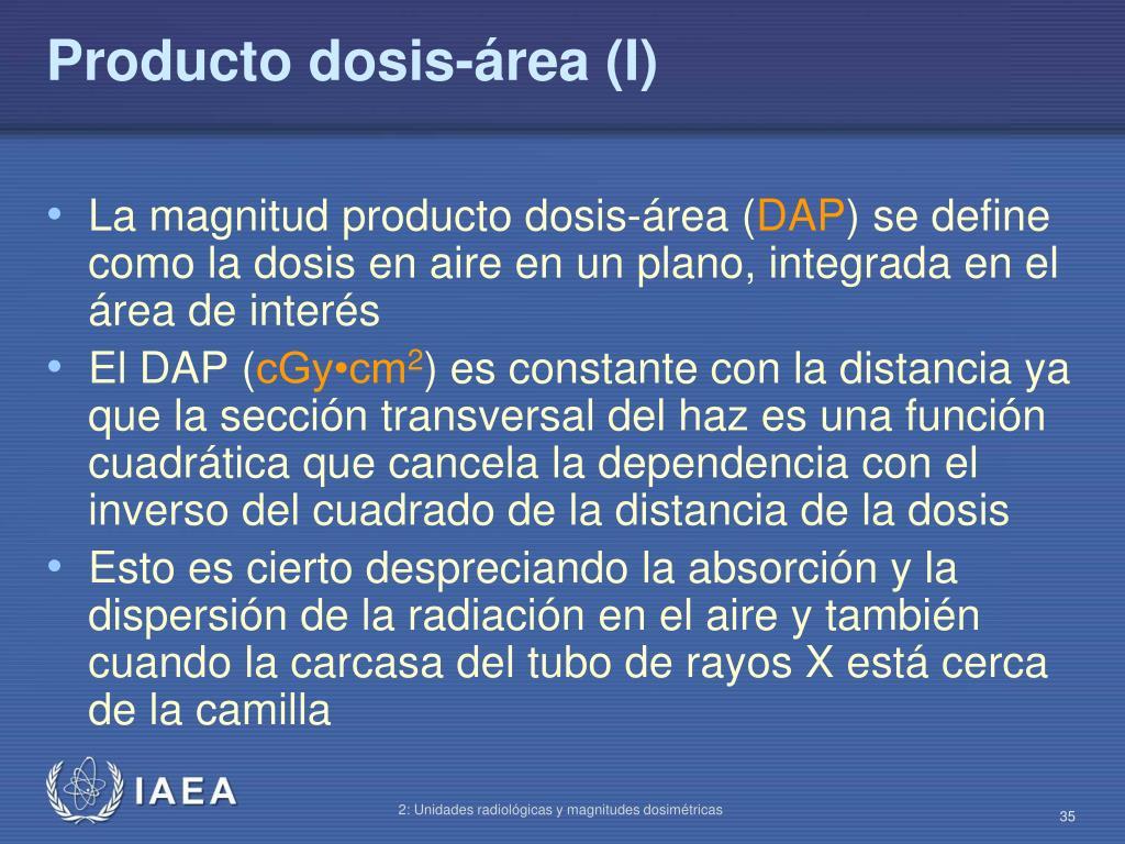Producto dosis-área (I)