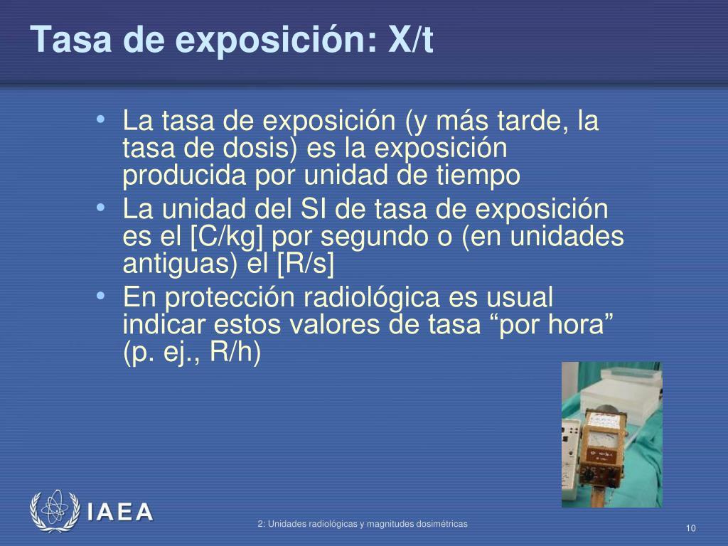 Tasa de exposición: X/t