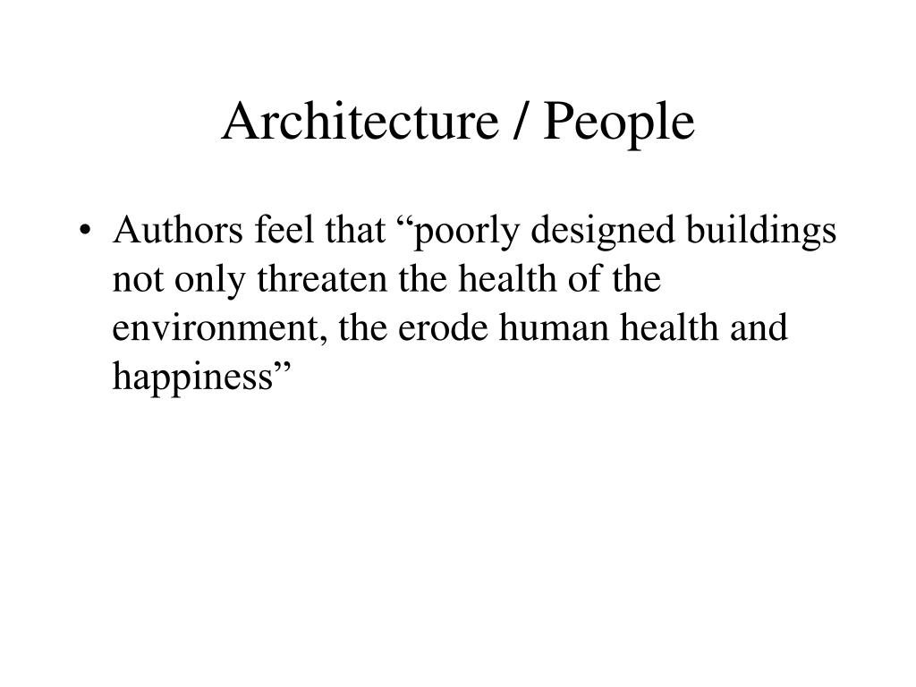 Architecture / People