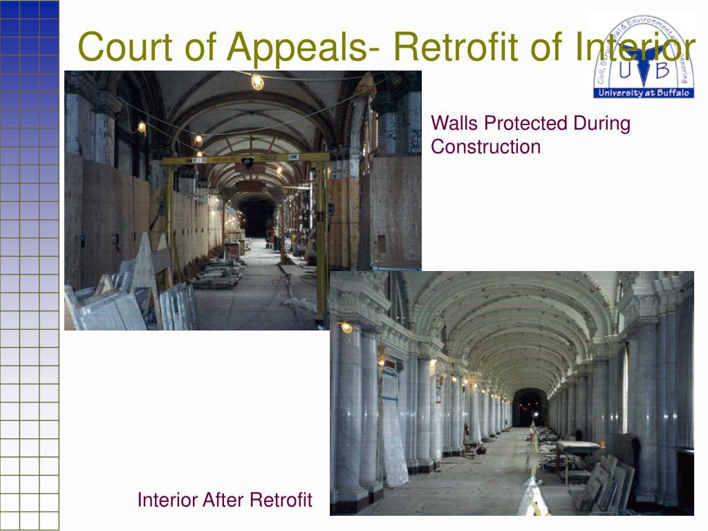 Court of Appeals- Retrofit of Interior