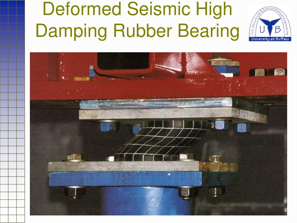 Deformed Seismic High Damping Rubber Bearing