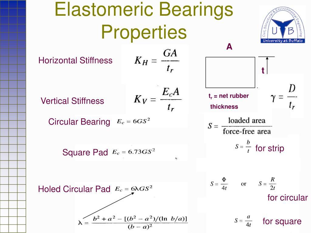 Elastomeric Bearings Properties