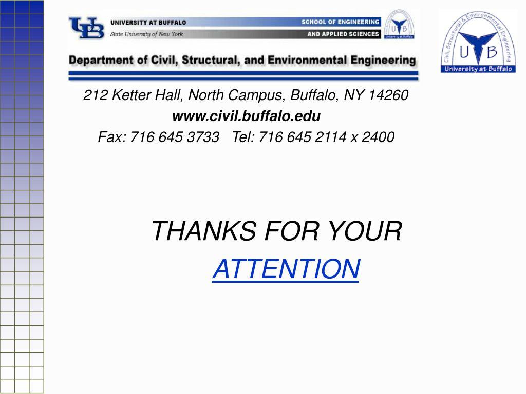 212 Ketter Hall, North Campus, Buffalo, NY 14260
