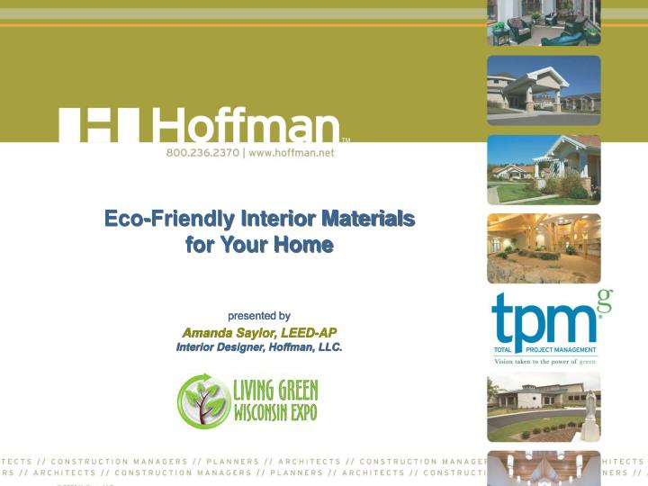 Eco friendly interior materials for your home