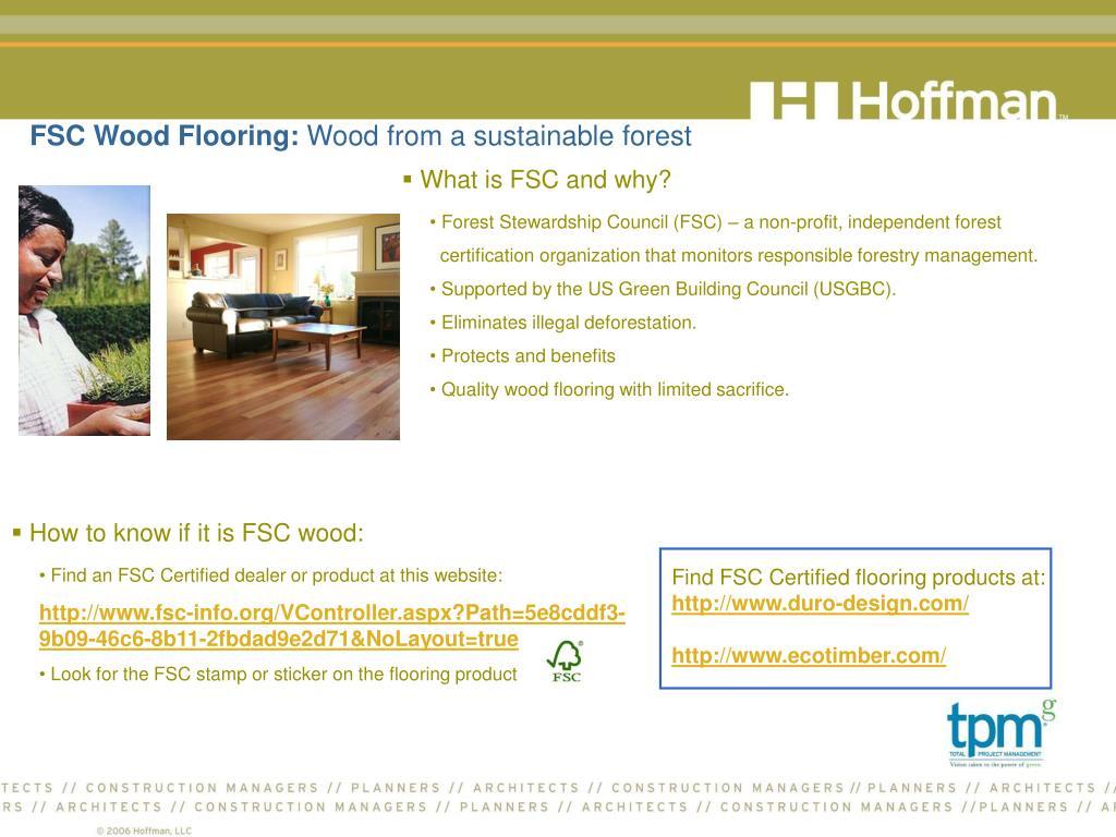 FSC Wood Flooring: