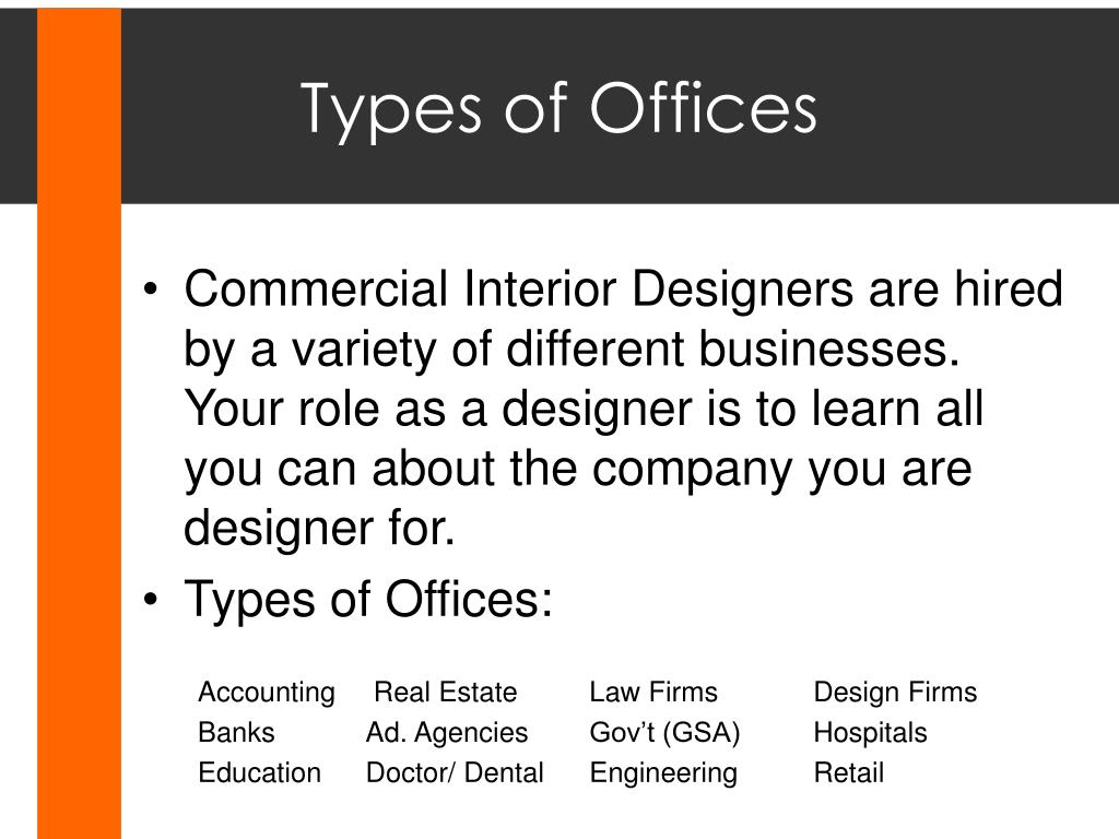 Types of Offices