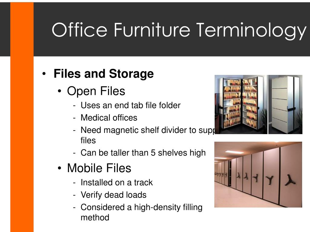 Office Furniture Terminology