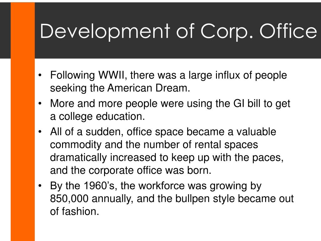 Development of Corp. Office