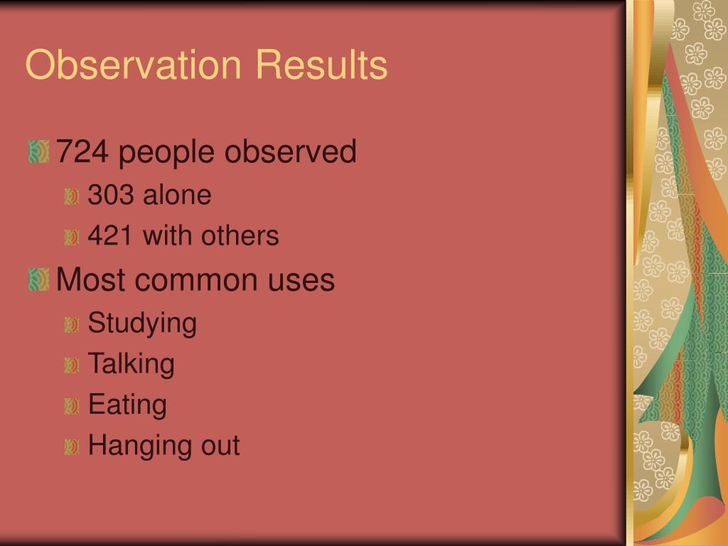 Observation Results