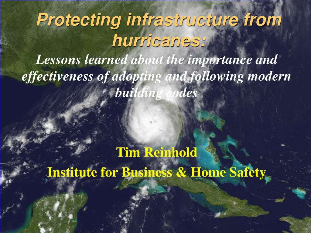 Protecting infrastructure from hurricanes: