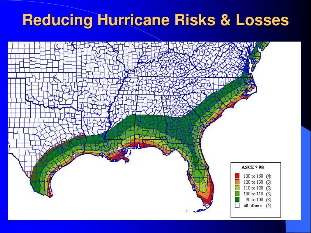 Reducing Hurricane Risks & Losses