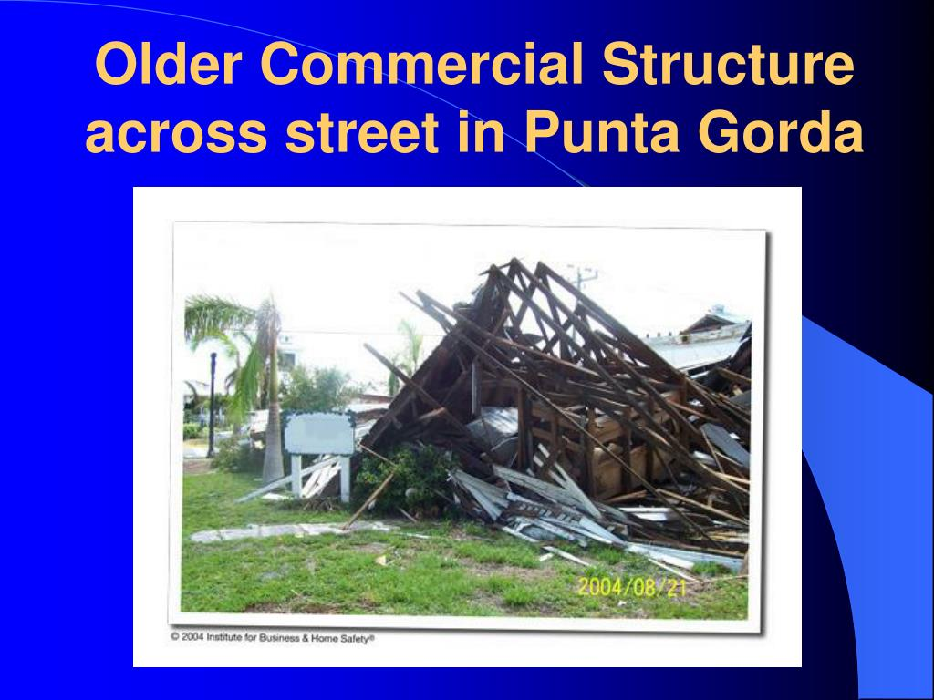 Older Commercial Structure across street in Punta Gorda