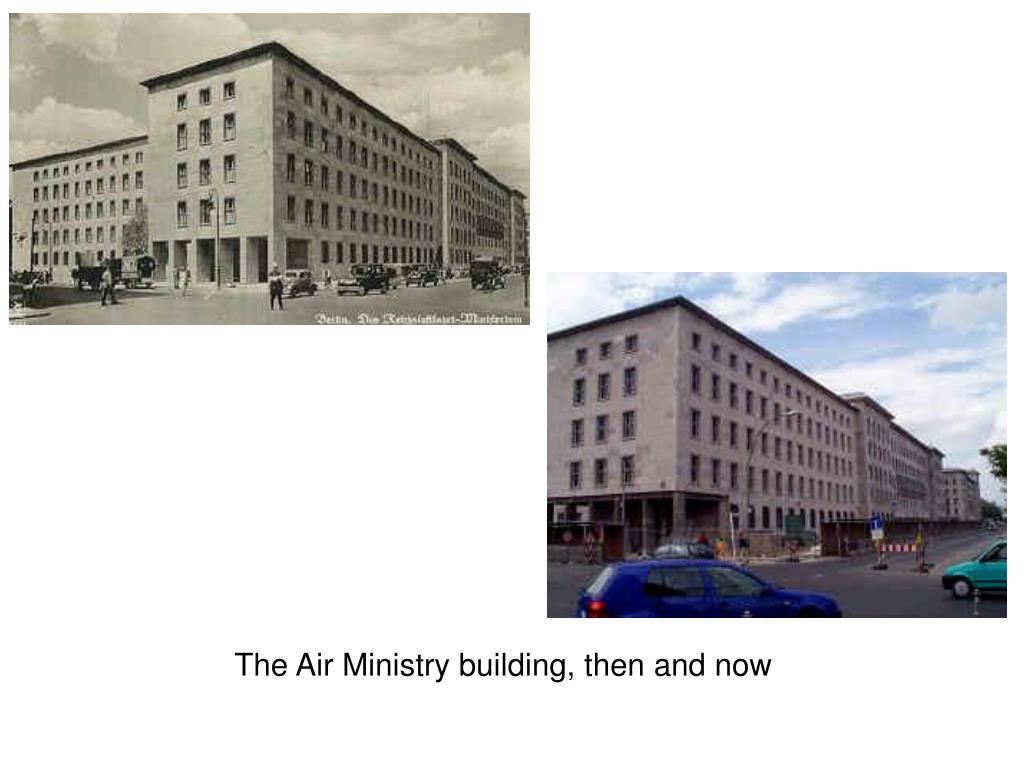 The Air Ministry building, then and now