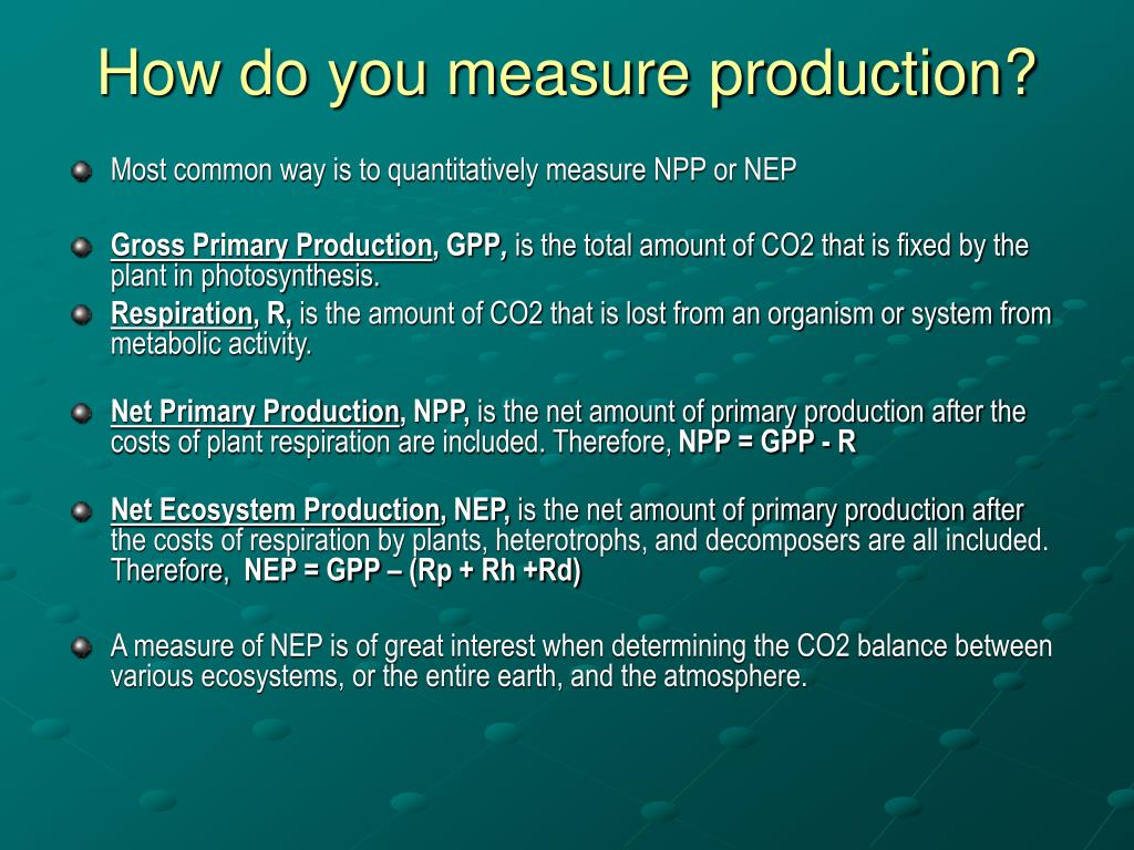 How do you measure production?