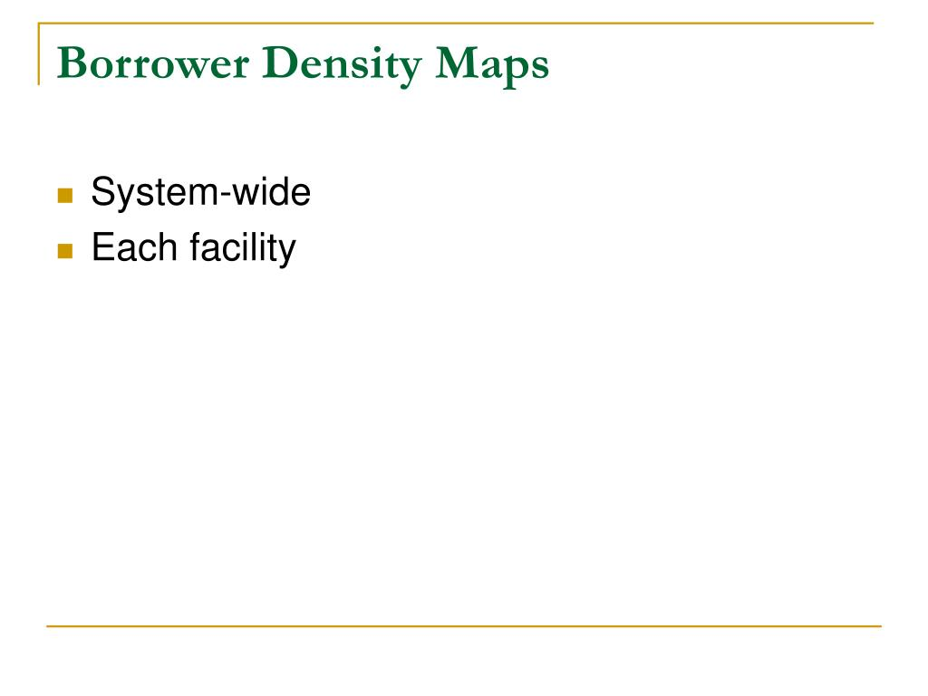 Borrower Density Maps