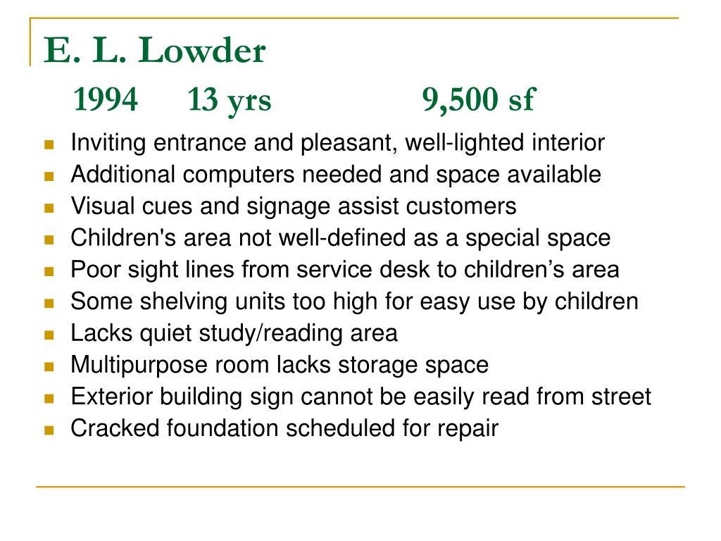 E. L. Lowder
