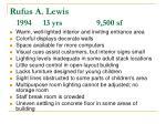 rufus a lewis 1994 13 yrs 9 500 sf