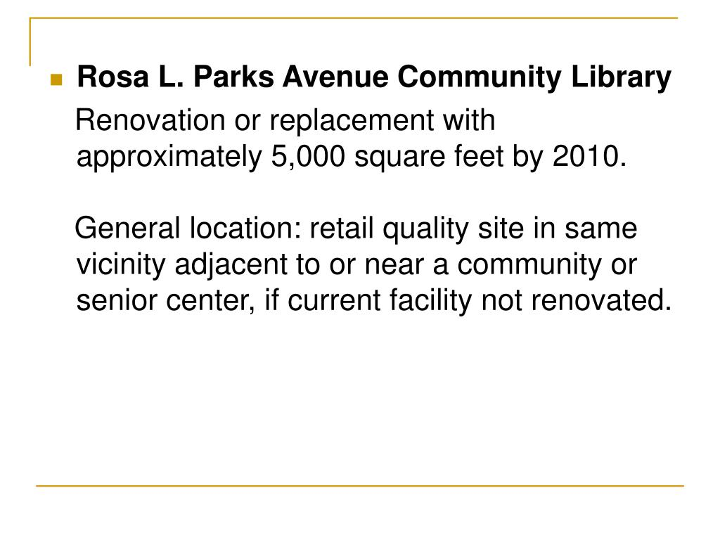 Rosa L. Parks Avenue Community Library