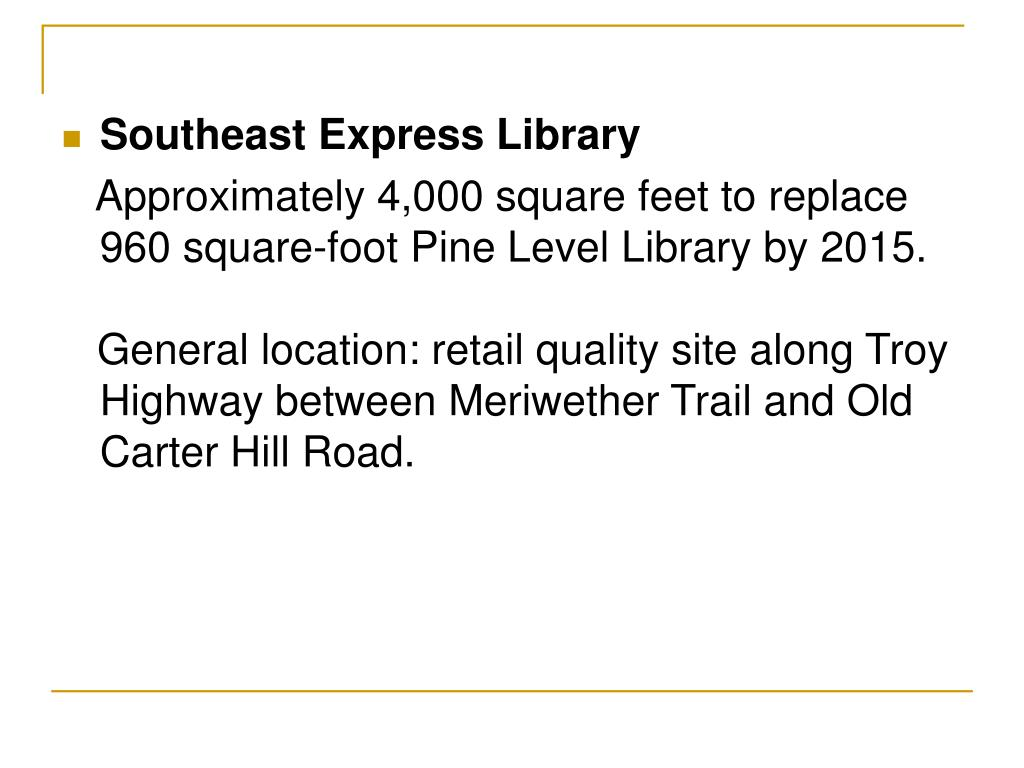 Southeast Express Library