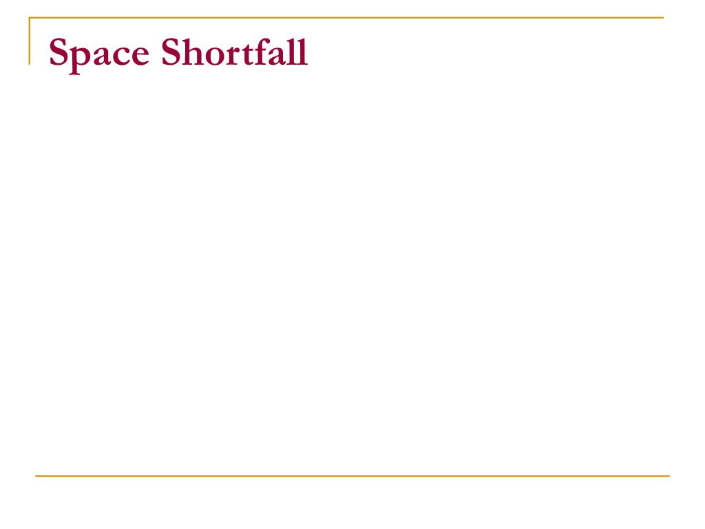Space Shortfall