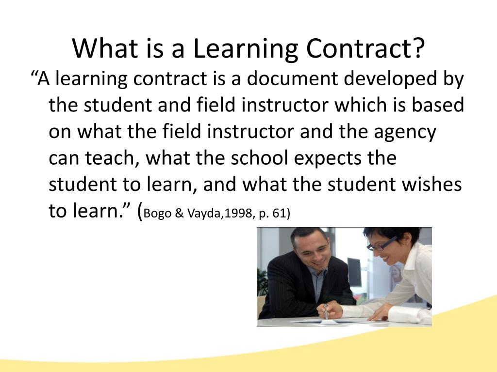 What is a Learning Contract?