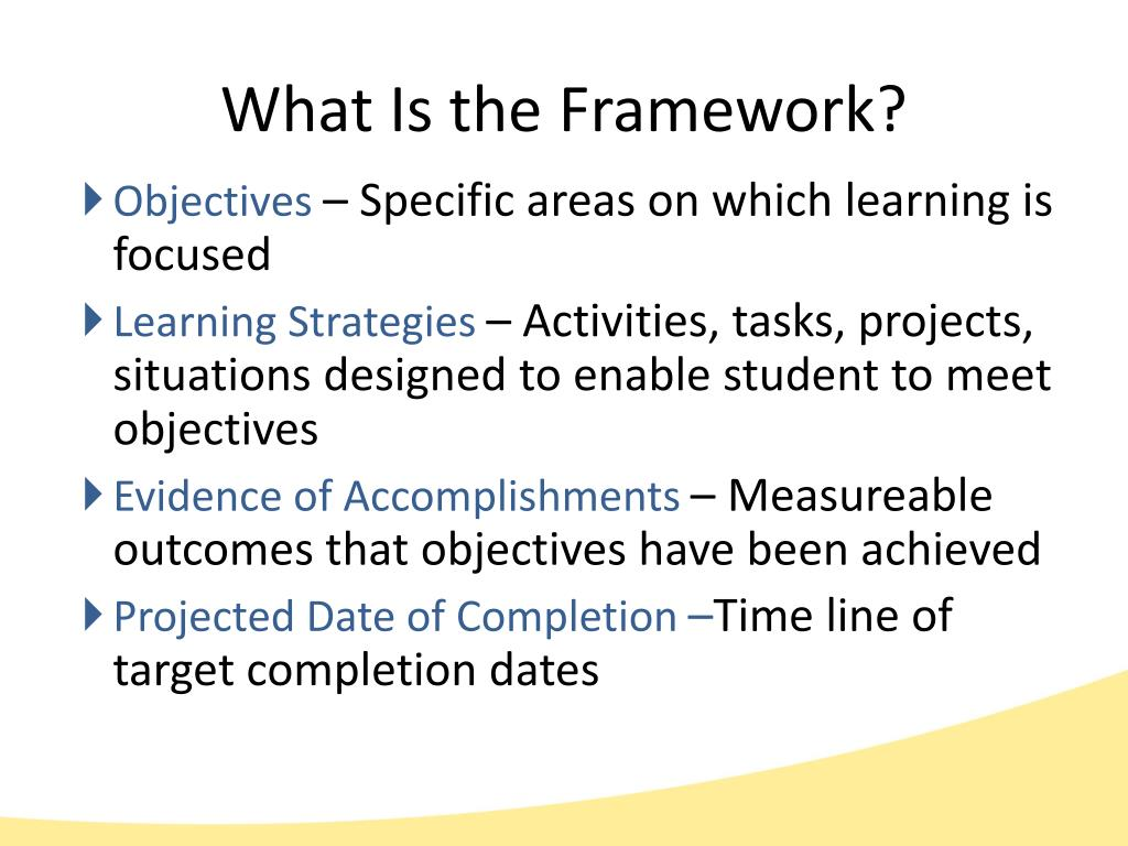 What Is the Framework?