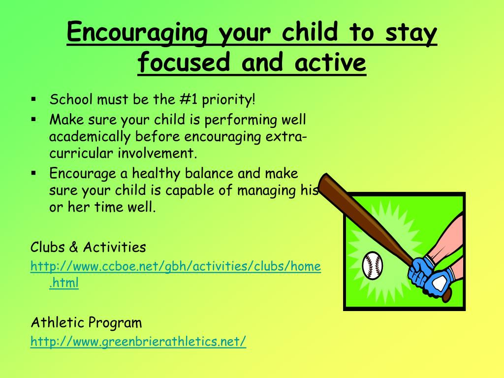 Encouraging your child to stay focused and active
