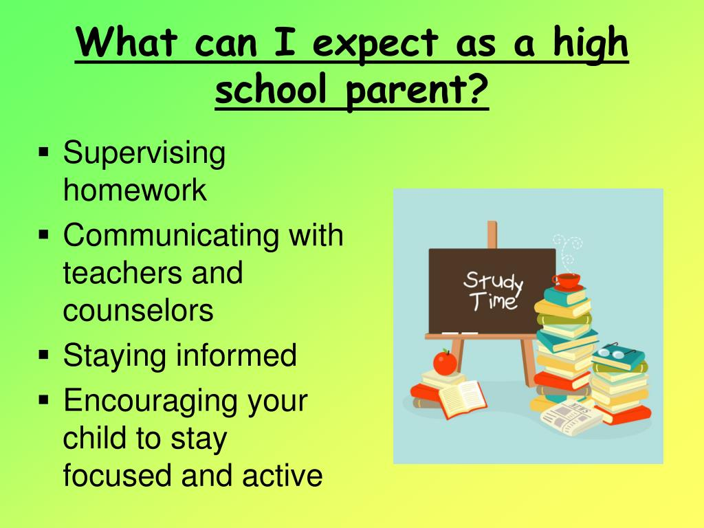 What can I expect as a high school parent?