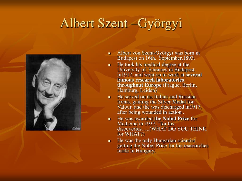 Albert Szent –Györgyi