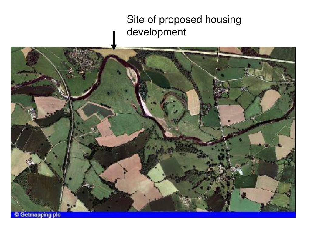 Site of proposed housing development