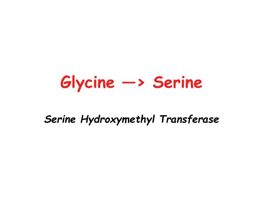 Glycine —> Serine