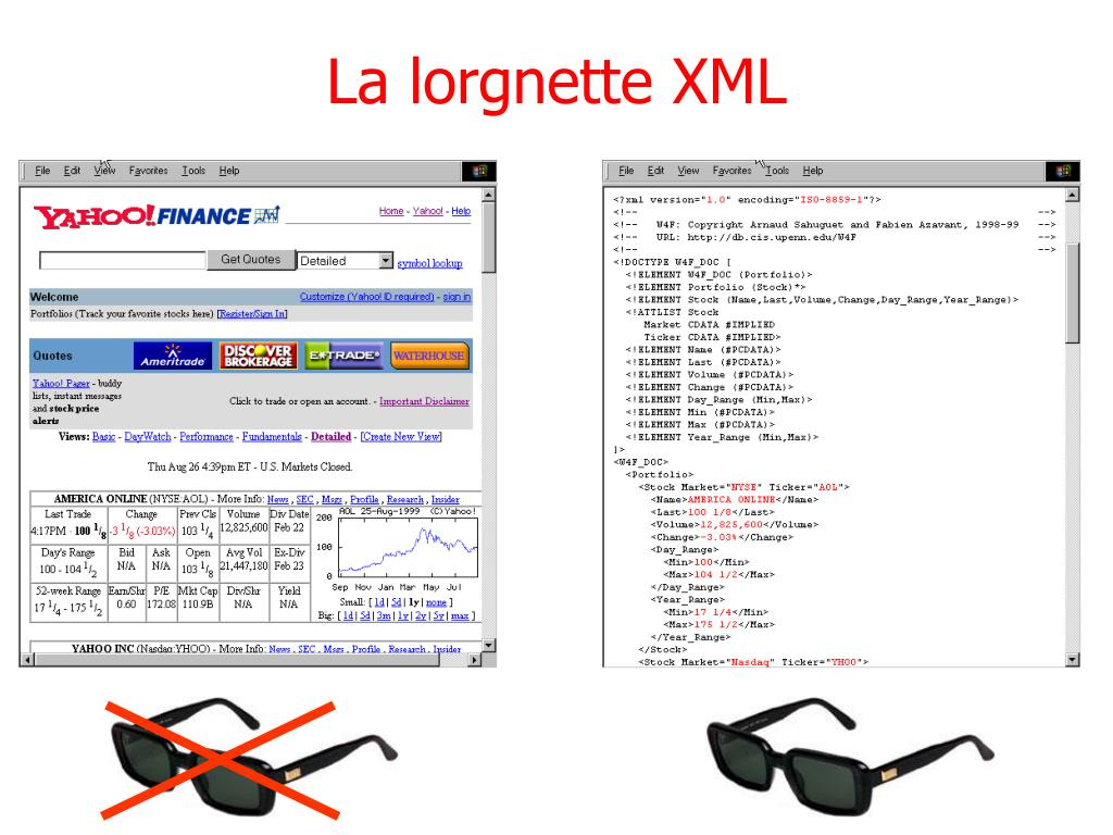 La lorgnette XML