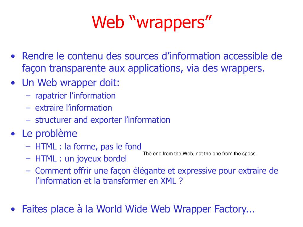 "Web ""wrappers"""