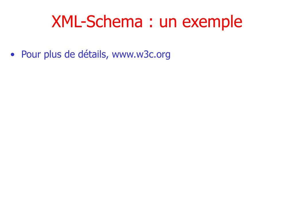 XML-Schema : un exemple