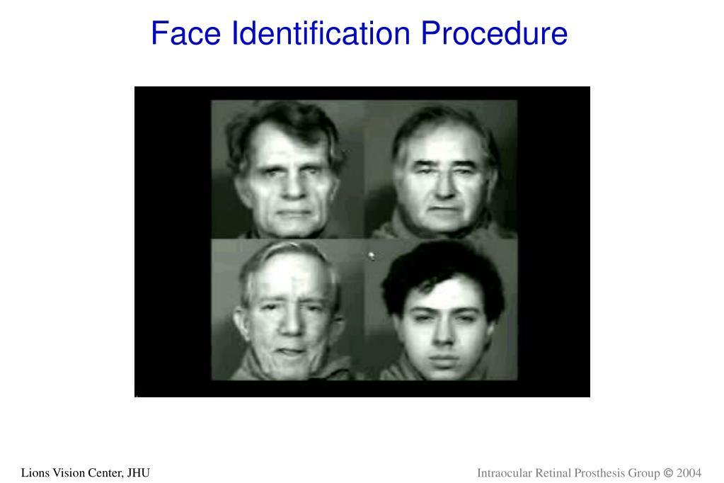 Face Identification Procedure